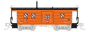 Fox Low-Window Rib-Side Caboose Milwaukee Road #019 N Scale Model Train Freight Car #91017