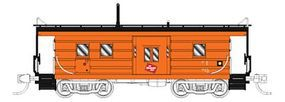 Fox Low-Window Rib-Side Caboose Milwaukee Road #020 N Scale Model Train Freight Car #91021