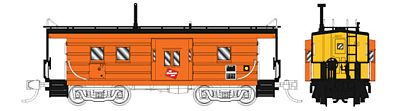 Fox Valley Models Low-Window Rib-Side Caboose Milwaukee Road #992 -- N Scale Model Train Freight Car -- #91023