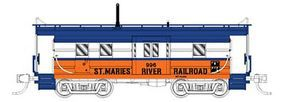 Fox High-Window Rib-Side Caboose St. Maries River RR N Scale Model Train Freight Car #91025
