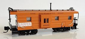 Fox Low-Window Rib-Side Caboose Milwaukee Road #020 N Scale Model Train Freight Car #91028