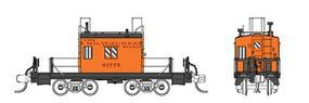 Fox Transfer Caboose - Ready to Run - Milwaukee Road #1 N Scale Model Train Freight Car #91151