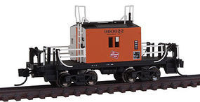 Fox Milwaukee Road Transfer Caboose #2 B/W N Scale Model Train Freight Car #91156