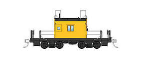 Fox Transfer Caboose Painted Unlettered, Plated-Over Window N Scale Model Train Freight Car #91158