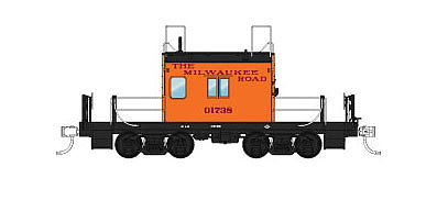 Fox Valley Models Transfer Caboose Milwaukee Road #01744 -- N Scale Model Train Freight Car -- #91160