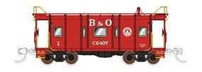 Fox B&O I-12 Wagontop Bay Window Caboose Baltimore & Ohio N Scale Model Train Freight Car #91204