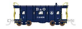 Fox B&O I-12 Wagontop Bay Window Caboose Baltimore & Ohio N Scale Model Train Freight Car #91207