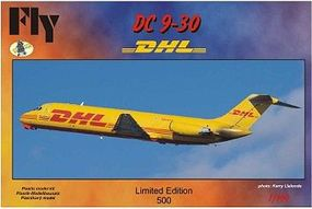 Fly-Models DC9-30 DHL Commercial Airliner Plastic Model Airplane Kit 1/144 Scale #14406