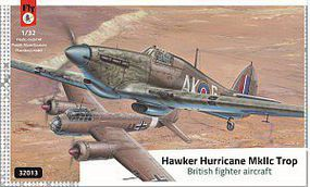 Fly-Models Hawker Hurricane Mk IIc Trop Fighter Plastic Model Airplane Kit 1/32 Scale #32013