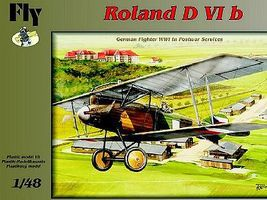Fly-Models Roland D VIb German BiPlane Fighter Postwar Service Plastic Model Airplane Kit 1/48 #48004