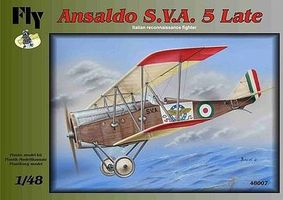 Fly-Models Ansalso SVA 5 Late Italian Recon Fighter BiPlane Plastic Model Airplane Kit 1/48 #48007