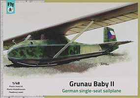 Fly-Models Grunau Baby II WWII Sailplane Plastic Model Airplane Kit 1/48 Scale #48020