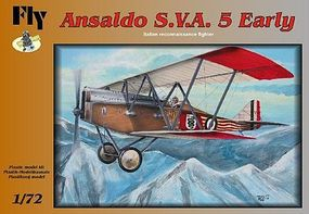 Fly-Models Ansaldo SVA 5 Early Italian Recon BiPlane Fighter Plastic Model Airplane Kit 1/72 #72001