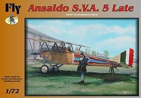 Fly-Models Ansaldo SVA 5 Late Italian Recon BiPlane Fighter Plastic Model Airplane Kit 1/72 #72002