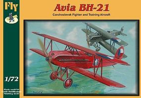 Fly-Models Avia BH21 Trainer/Fighter Biplane Plastic Model Airplane Kit 1/72 Scale #72011