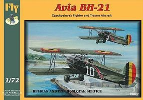 Fly-Models Avia BH21 Czech/Belgian Trainer/Fighter BiPlane Plastic Model Airplane Kit 1/72 #72012