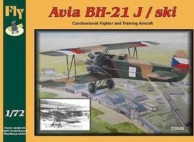 Fly-Models Avia BH21J/Ski Czech Biplane Trainer/ Fighter Plastic Model Airplane Kit 1/72 Scale #72020