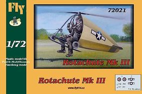 Fly-Models Rotachute Mk III One-Man Rotor Kite Aircraft Plastic Model Airplane Kit 1/72 Scale #72021