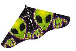 Gayla Industries 42''x22'' Aliens X Delta Wing Kite -- Single-Line Kite -- #104