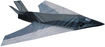 Gayla 41x40 Stealth Fighter 3-D Nylon Kite Single-Line Kite #1328