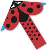 Gayla Ladybug Nylon 50 Single-Line Kite #1352