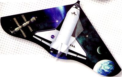 Gayla Industries 42''x22'' Space Shuttle Delta Wing Kite -- Single Line Kite -- #190