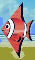 Gayla 52x28 Clown Fish Designer Delta Kite Single-Line Kite #224