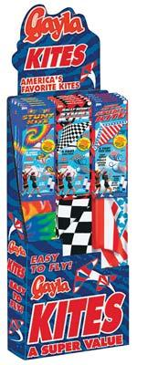 Gayla 24 Assorted Stuntmaster Kites Display Single Line Kite #3220
