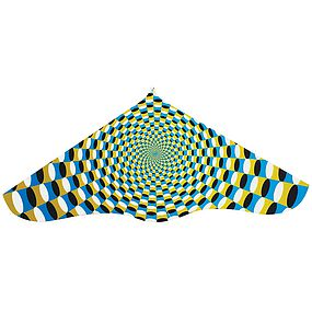 Gayla 42 Illusions Plastic Delta Kite with Twine/Winder Single Line Kite #525