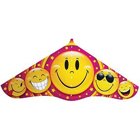 Gayla 42 Emoji Plastic Delta Kite with Twine/Winder Single Line Kite #526