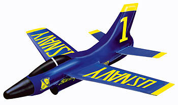 Gayla Industries 10'' Wingspan Blue Angel Super Sonic Jet w/Trigger Launcher
