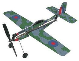 Gayla 11 Wingspan Spitfire Rubber Band Pwd Wood Glider Kit