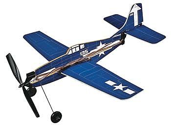 Gayla Industries 11'' Wingspan F6F5 Hellcat Rubber Band Pwd Wood Glider Kit