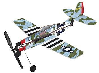Gayla Industries 11'' Wingspan P47 Thunderbolt Rubber Band Pwd Wood Glider Kit