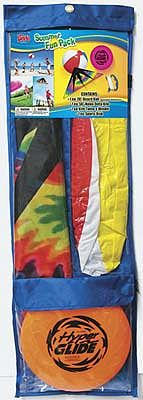 Gayla Industries Summer Fun Pack #2 50''Kite/Beach Ball/Flying Disc