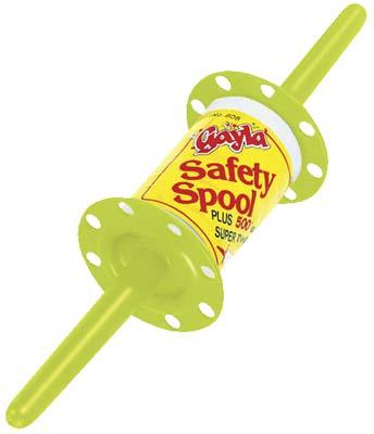Gayla Fluorescent Safety Spool with 500 White Super Twine Kite Accessory #808