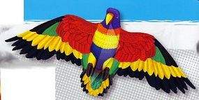 Gayla 55''x24'' Rainbow Parrot Wing Flapper Kite Single-Line Kite #856