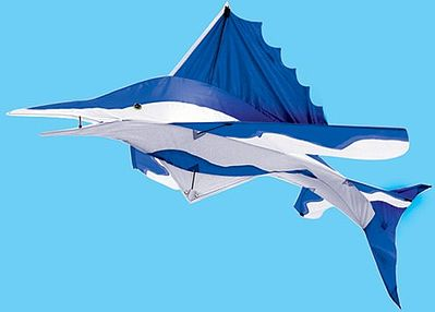 Gayla Industries 3D Blue Marlin 48 Nylon -- Single-Line Kite -- #875