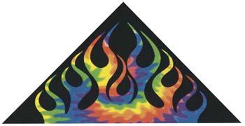 Gayla Industries 50''x24'' Sky Dye Flames Constellation Delta Nylon Kite -- Single-Line Kite -- #951