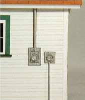 GCLaser Meter Socket 4-Pack Kit - 2 Styles HO Scale Model Railroad Building Accessories #11011