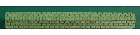 GCLaser Roof Ridge Cap (3-Tab) 36 Lineal Inch Coverage (Green) Ho Sclale #111315