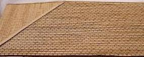 GCLaser Laser-Cut Roof Shingles (3-Tab) 11.5'' Long (Brown) HO-Scale #11132