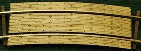 GCLaser Grade Crossings Kit pkg(2) 15'' Radius Curve Fits Code 83 & 100 Rail HO-Scale #11274