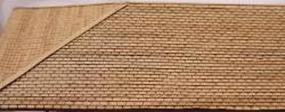 GCLaser Laser-Cut Roof Shingles (3-Tab) 7-1/4'' Long (Brown) 32 Square Inch Coverage N-Scale #1132
