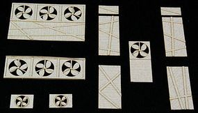 GCLaser Window Fans & BoardUps The Cube Modular System Component Kit HO Scale #116018