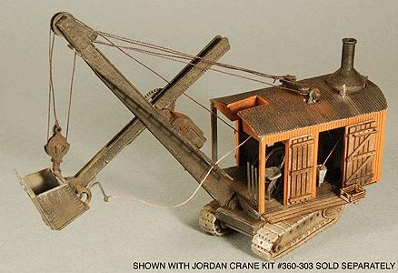 GC Laser Jordan Steam Shovel Detail Set Kit (Laser-Cut Wood) -- HO Scale Model -- #1176