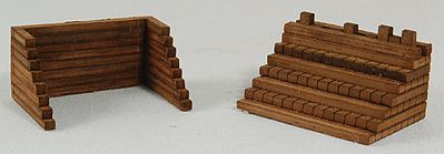 GC Laser Wood Track Bumpers Kit (Laser-Cut Architectural Card) pkg(2) -- HO-Scale -- #1182