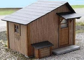 GCLaser Tool Shed Kit (Laser-Cut Wood) HO Scale Model Railroad Building #1201