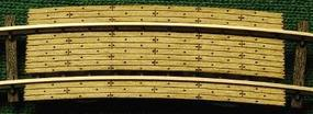 GCLaser Grade Crossing pkg(2) 9-3/4 Radius Curve Fits Code 100 Rail N Scale Model Railroad #1272