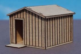 GCLaser Storage Shed Kit (Laser-Cut Wood) N Scale Model Railroad Building #1391